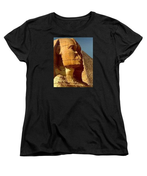 Women's T-Shirt (Standard Cut) featuring the photograph Great Sphinx Of Giza by Travel Pics