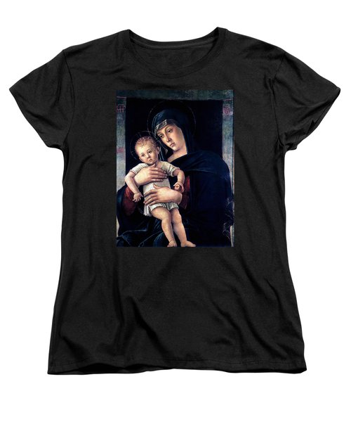Greek Madonna With Child 1464 Giovanni Bellini Women's T-Shirt (Standard Cut) by Karon Melillo DeVega