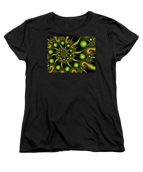 Women's T-Shirt (Standard Cut) featuring the digital art Green And Gold by Gabiw Art