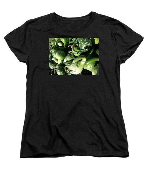 Green Goosenecks Women's T-Shirt (Standard Cut) by Caryl J Bohn