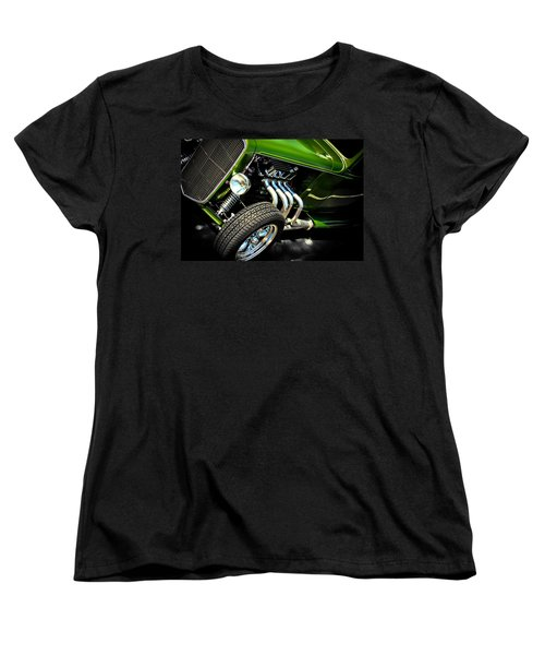 Vintage Car Women's T-Shirt (Standard Cut) featuring the photograph Green Machine  by Aaron Berg