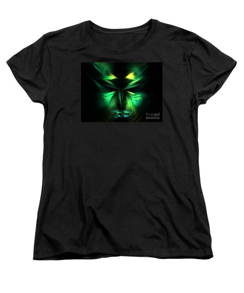 Green Man Women's T-Shirt (Standard Cut) by Kim Sy Ok