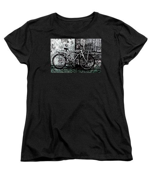 Women's T-Shirt (Standard Cut) featuring the painting Green Park Way by Ecinja Art Works