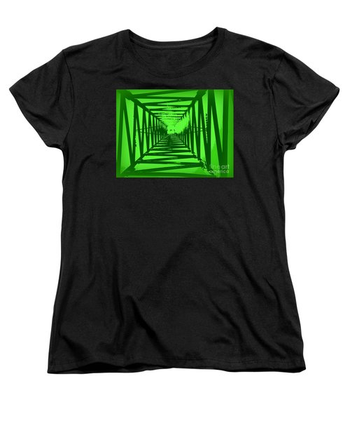Women's T-Shirt (Standard Cut) featuring the photograph Green Perspective by Clare Bevan