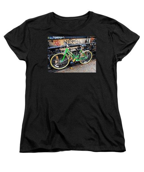 Green Schwinn Bike  Nyc Women's T-Shirt (Standard Cut)