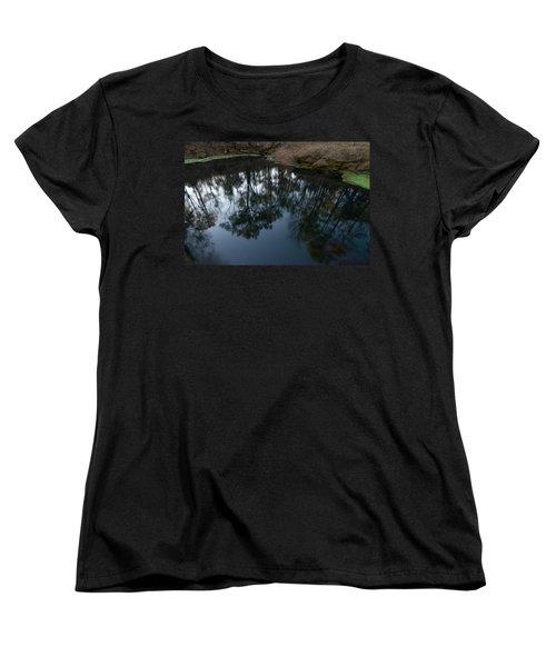 Women's T-Shirt (Standard Cut) featuring the photograph Green Sink Reflection by Paul Rebmann