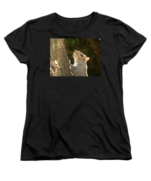 Grey Squirrel Women's T-Shirt (Standard Cut) by Ron Harpham
