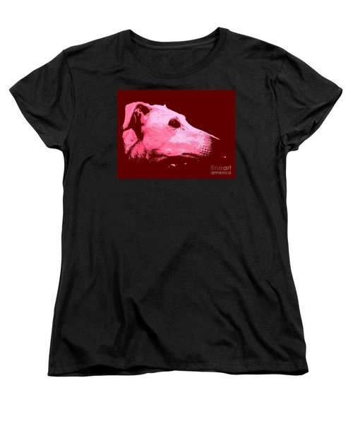 Women's T-Shirt (Standard Cut) featuring the photograph Greyhound Profile by Clare Bevan