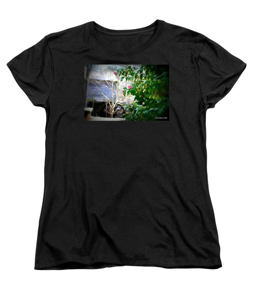Women's T-Shirt (Standard Cut) featuring the photograph Grist Mill Roses by Tara Potts