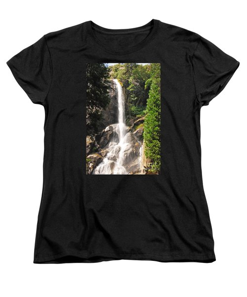 Women's T-Shirt (Standard Cut) featuring the photograph Grizzly Falls by Mary Carol Story