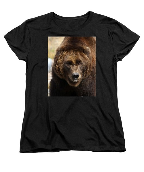 Grizzly Women's T-Shirt (Standard Cut) by Steve McKinzie