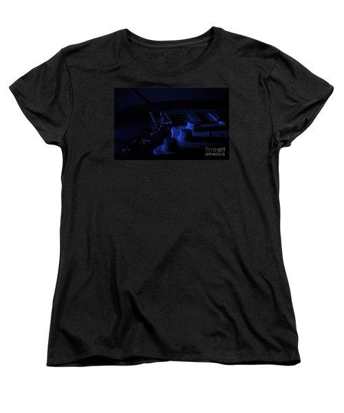 Guitar Blues Women's T-Shirt (Standard Cut) by Linda Bianic
