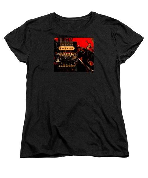 Guitar Pickup Women's T-Shirt (Standard Cut) by John Stuart Webbstock