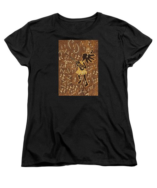 Guitar Player Women's T-Shirt (Standard Cut) by Katherine Young-Beck