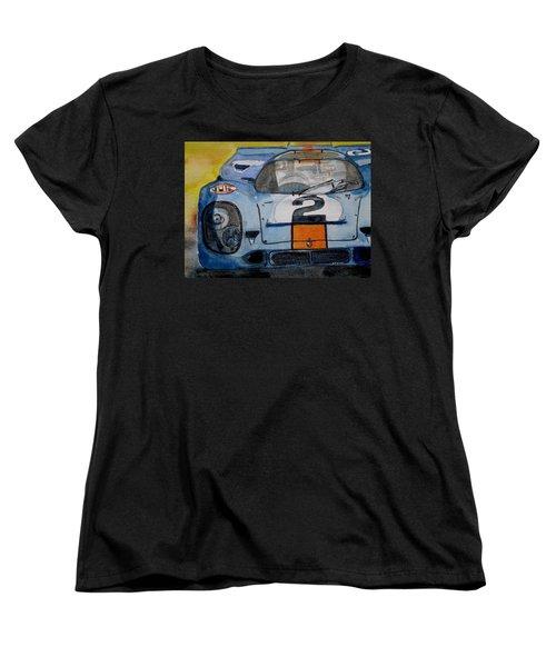 Gulf Porsche Women's T-Shirt (Standard Cut) by Anna Ruzsan