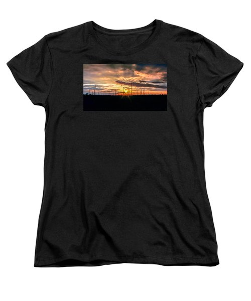 Gulf Shore Sunset Women's T-Shirt (Standard Cut) by Rob Sellers