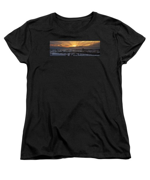 Women's T-Shirt (Standard Cut) featuring the digital art Gulf Shores From Pavilion by Michael Thomas