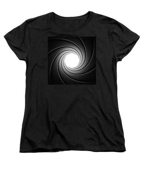 Gun Barrel From Inside Women's T-Shirt (Standard Cut) by Johan Swanepoel