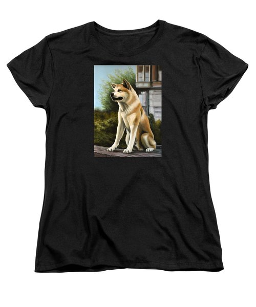 Hachi Painting Women's T-Shirt (Standard Cut) by Paul Meijering
