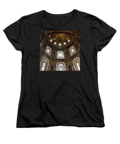 Hagia Sofia Interior 06 Women's T-Shirt (Standard Cut) by Antony McAulay