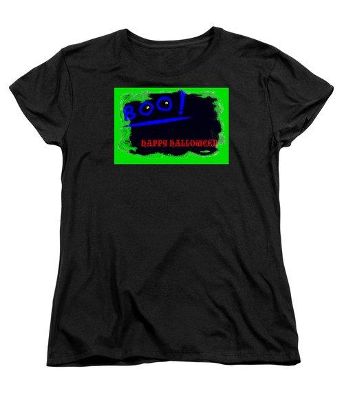 Halloween Boo Women's T-Shirt (Standard Cut) by Christopher Rowlands