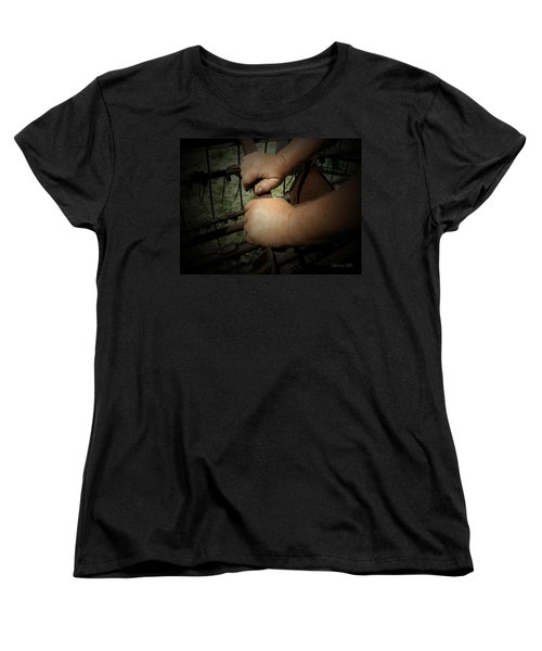 Women's T-Shirt (Standard Cut) featuring the photograph Hands That Feed The World by Cynthia Lassiter