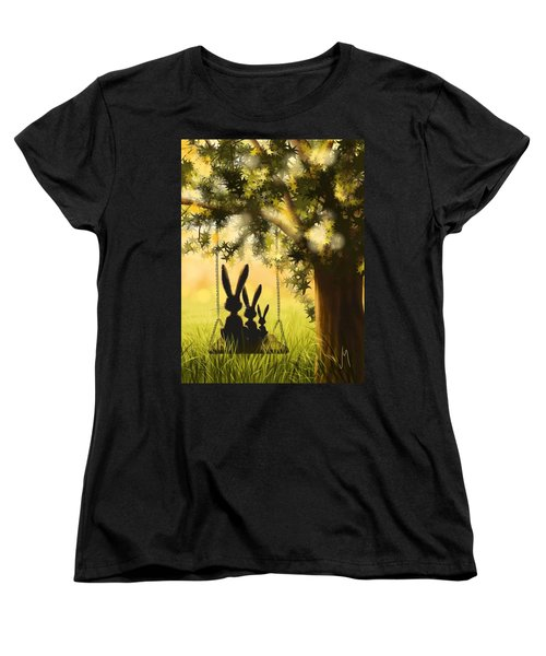 Happily Together Women's T-Shirt (Standard Cut) by Veronica Minozzi