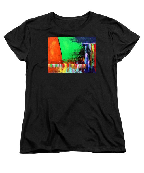 Women's T-Shirt (Standard Cut) featuring the painting Happiness by Kume Bryant