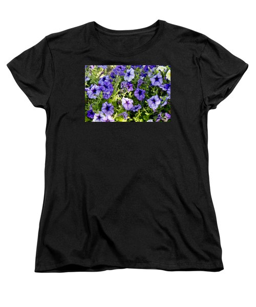 Women's T-Shirt (Standard Cut) featuring the photograph Happy Flowers by Wilma  Birdwell