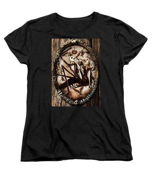 Happy Halloween IIi Sepia Version Women's T-Shirt (Standard Cut) by Alessandro Della Pietra
