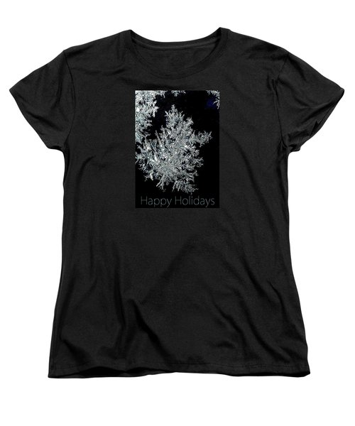 Happy Holidays Women's T-Shirt (Standard Cut) by Jodie Marie Anne Richardson Traugott          aka jm-ART