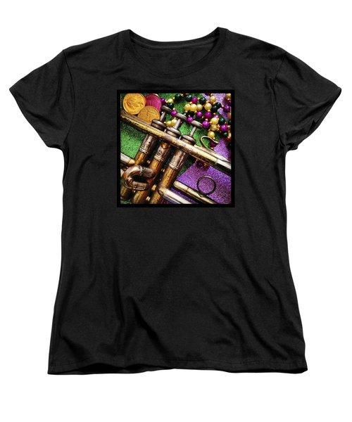 Happy Mardi Gras Women's T-Shirt (Standard Cut) by KG Thienemann