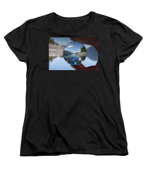 Happy Place Women's T-Shirt (Standard Cut) by Cathie Douglas
