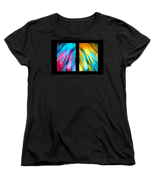Happy Together Layout Women's T-Shirt (Standard Cut) by Dazzle Zazz