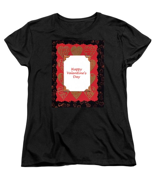 Women's T-Shirt (Standard Cut) featuring the photograph Happy Valentines Day Card by Vizual Studio
