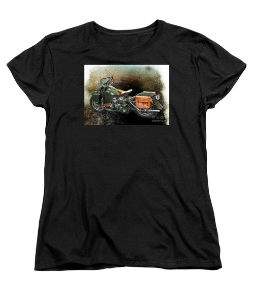 Harley Davidson 1942 Experimental Army Women's T-Shirt (Standard Cut) by Barbara McMahon