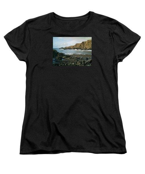 North Devon - Hartland Quay Women's T-Shirt (Standard Cut) by Richard Brookes