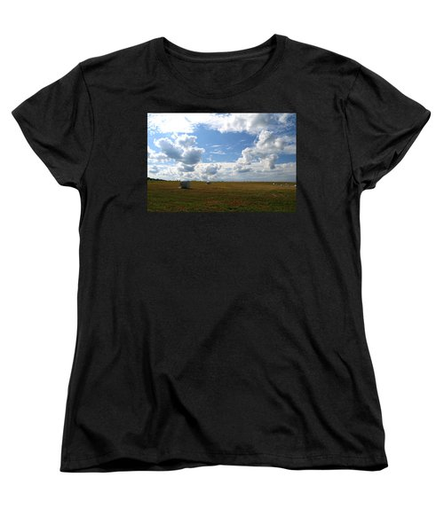 Women's T-Shirt (Standard Cut) featuring the photograph Harvest Blue  by Neal Eslinger