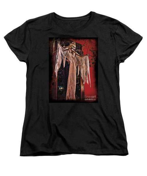 Hauntings Women's T-Shirt (Standard Cut) by Joan  Minchak