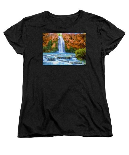 Havasu Falls Women's T-Shirt (Standard Cut) by David Wagner