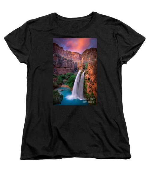 Havasu Falls Women's T-Shirt (Standard Cut) by Inge Johnsson