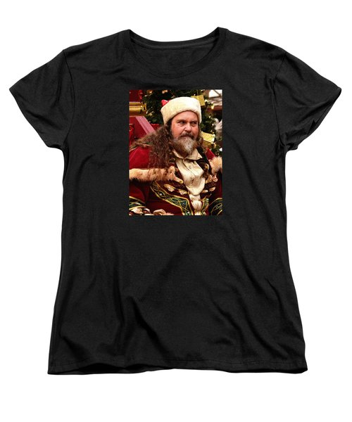 Women's T-Shirt (Standard Cut) featuring the photograph Have You Been Naughty by Nadalyn Larsen