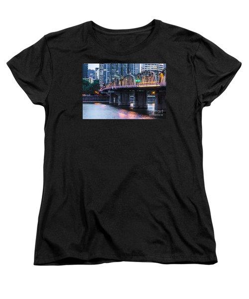 Hawthorne Bridge Portland Oregon Women's T-Shirt (Standard Cut) by Patricia Babbitt