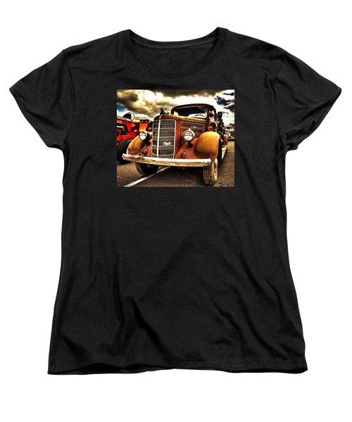 Hdr Fire Truck Women's T-Shirt (Standard Cut)