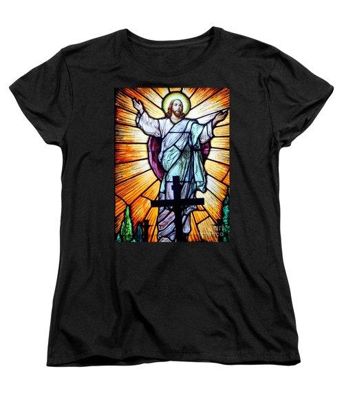 He Is Risen Women's T-Shirt (Standard Cut) by Ed Weidman