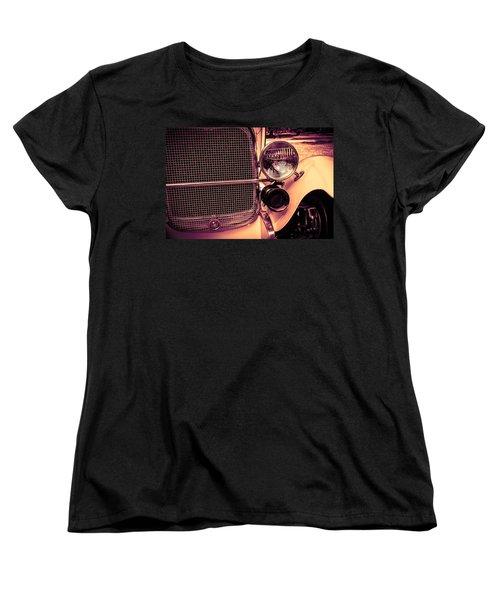 Women's T-Shirt (Standard Cut) featuring the digital art Headlight And Horn by Bartz Johnson