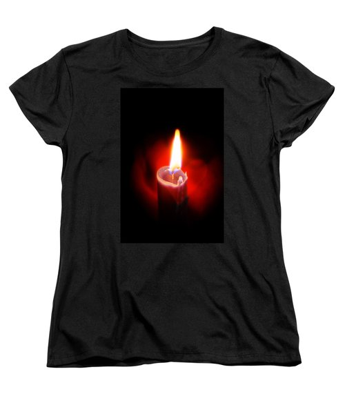 Heart Aflame Women's T-Shirt (Standard Cut) by Sennie Pierson
