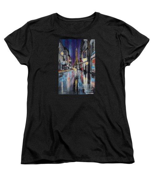 Heart Of Paris Women's T-Shirt (Standard Cut) by Dragica  Micki Fortuna