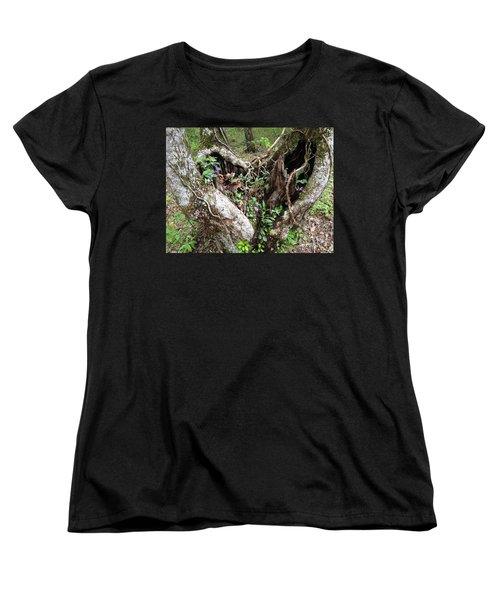 Women's T-Shirt (Standard Cut) featuring the photograph Heart-shaped Tree by Jan Dappen