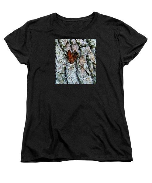 Heart Wood Women's T-Shirt (Standard Cut) by Joy Hardee